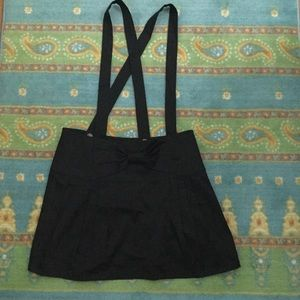 Betsey Johnson bow suspenders skirt